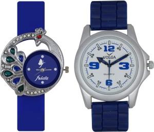 Frida Designer VOLGA Beautiful New Branded Type Watches Men and Women Combo39 VOLGA Band Analog Watch  - For Couple