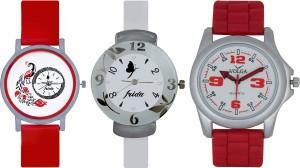 Frida Designer VOLGA Beautiful New Branded Type Watches Men and Women Combo743 VOLGA Band Analog Watch  - For Couple