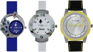 Volga Designer FVOLGA Beautiful New Branded Type Watches Men and Women Combo147 VOLGA Band Analog Watch  - For Couple