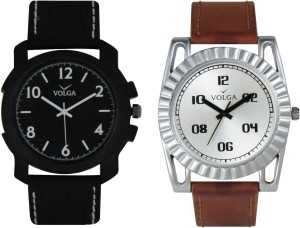 Volga Branded Leather Quality Designer Dial Diwali Special Combo253 Designer Sport Looks WaterProof Mens Watch Analog Watch  - For Men