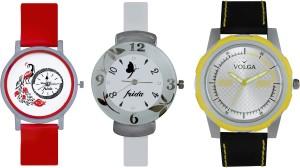 Volga Designer Beautiful New Branded Type Watches Men and Women Combo195 VOLGA Band Analog Watch  - For Couple