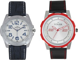 Volga Branded Leather Quality Designer Dial Diwali Special Combo494 Designer Sport Looks WaterProof Mens Watch Analog Watch  - For Men