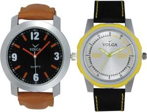 Volga Branded Leather Quality Designer Dial Diwali Special Combo561 Designer Sport Looks WaterProof Mens Watch Analog Watch  - For Men