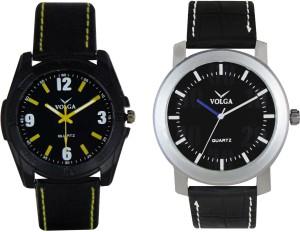 Volga Branded Leather Quality Designer Dial Diwali Special Combo337 Designer Sport Looks WaterProof Mens Watch Analog Watch  - For Men