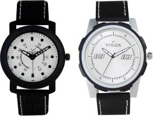 Volga Branded Leather Quality Designer Dial Diwali Special Combo312 Designer Sport Looks WaterProof Mens Watch Analog Watch  - For Men