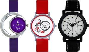Frida Designer VOLGA Beautiful New Branded Type Watches Men and Women Combo676 VOLGA Band Analog Watch  - For Couple