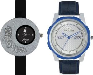 Volga Designer FVOLGA Beautiful New Branded Type Watches Men and Women Combo35 VOLGA Band Analog Watch  - For Couple