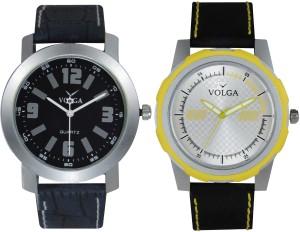 Volga Branded Leather Quality Designer Dial Diwali Special Combo588 Designer Sport Looks WaterProof Mens Watch Analog Watch  - For Men