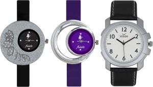 Frida Designer VOLGA Beautiful New Branded Type Watches Men and Women Combo302 VOLGA Band Analog Watch  - For Couple