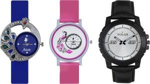 Volga Designer FVOLGA Beautiful New Branded Type Watches Men and Women Combo118 VOLGA Band Analog Watch  - For Couple