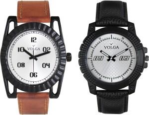 Volga Branded Leather Quality Designer Dial Diwali Special Combo646 Designer Sport Looks WaterProof Mens Watch Analog Watch  - For Men