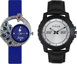Volga Designer FVOLGA Beautiful New Branded Type Watches Men and Women Combo40 VOLGA Band Analog Watch  - For Couple
