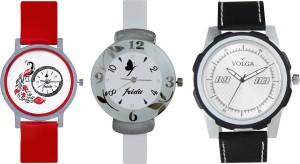 Volga Designer FVOLGA Beautiful New Branded Type Watches Men and Women Combo192 VOLGA Band Analog Watch  - For Couple