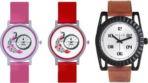 Volga Designer FVOLGA Beautiful New Branded Type Watches Men and Women Combo157 VOLGA Band Analog Watch  - For Couple