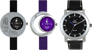 Volga Designer FVOLGA Beautiful New Branded Type Watches Men and Women Combo95 VOLGA Band Analog Watch  - For Couple
