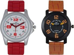 Volga Branded Leather Quality Designer Dial Diwali Special Combo82 Designer Sport Looks WaterProof Mens Watch Analog Watch  - For Men