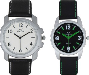 Volga Branded Leather Quality Designer Dial Diwali Special Combo184 Designer Sport Looks WaterProof Mens Watch Analog Watch  - For Men