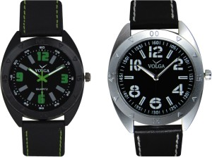 Volga Branded Leather Quality Designer Dial Diwali Special Combo354 Designer Sport Looks WaterProof Mens Watch Analog Watch  - For Men