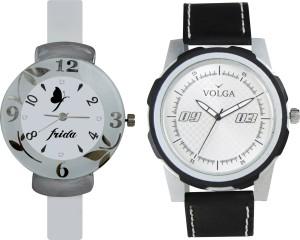 Volga Designer FVOLGA Beautiful New Branded Type Watches Men and Women Combo72 VOLGA Band Analog Watch  - For Couple