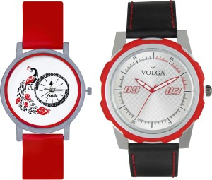 Volga Designer FVOLGA Beautiful New Branded Type Watches Men and Women Combo66 VOLGA Band Analog Watch  - For Couple