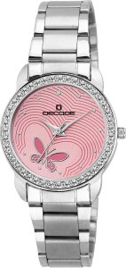 Decode Ladies Crystal Studded LR-X2 Pink Analog Watch  - For Women
