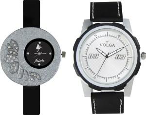 Volga Designer FVOLGA Beautiful New Branded Type Watches Men and Women Combo34 VOLGA Band Analog Watch  - For Couple
