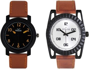 Volga Branded Leather Quality Designer Dial Diwali Special Combo384 Designer Sport Looks WaterProof Mens Watch Analog Watch  - For Men