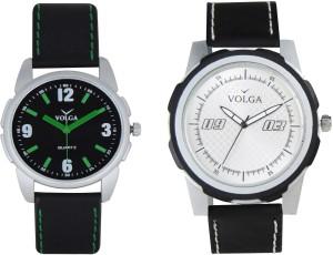 Volga Branded Leather Quality Designer Dial Diwali Special Combo527 Designer Sport Looks WaterProof Mens Watch Analog Watch  - For Men