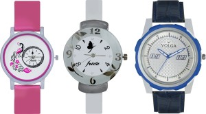 Volga Designer FVOLGA Beautiful New Branded Type Watches Men and Women Combo169 VOLGA Band Analog Watch  - For Couple