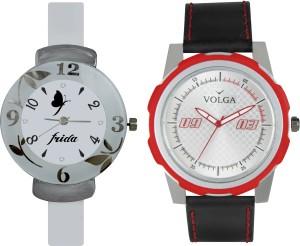 Volga Designer FVOLGA Beautiful New Branded Type Watches Men and Women Combo74 VOLGA Band Analog Watch  - For Couple