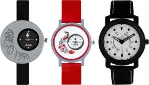 Frida Designer VOLGA Beautiful New Branded Type Watches Men and Women Combo342 VOLGA Band Analog Watch  - For Couple
