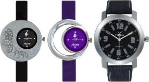 Frida Designer VOLGA New Branded Type Watches Men and Women Combo320 VOLGA Frida Couple Analog Watch  - For Couple