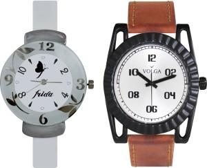 Volga Designer FVOLGA Beautiful New Branded Type Watches Men and Women Combo69 VOLGA Band Analog Watch  - For Couple