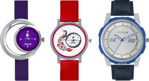 Volga Designer FVOLGA Beautiful New Branded Type Watches Men and Women Combo177 VOLGA Band Analog Watch  - For Couple