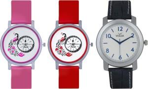 Frida Designer VOLGA Beautiful New Branded Type Watches Men and Women Combo597 VOLGA Band Analog Watch  - For Couple