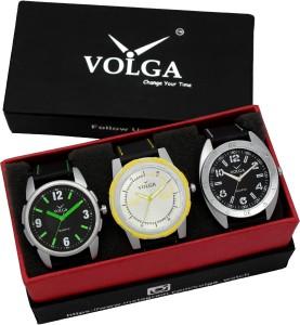 Volga VLW05-26-31-43 Mens Leather Belt Combo With Designer Stylish Branded Trendy box Analog Watch  - For Men