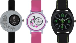 Frida Designer VOLGA Beautiful New Branded Type Watches Men and Women Combo271 VOLGA Band Analog Watch  - For Couple