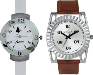 Volga Designer FVOLGA Beautiful New Branded Type Watches Men and Women Combo68 VOLGA Band Analog Watch  - For Couple