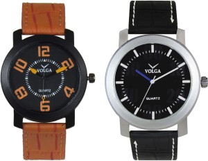 Volga Branded Leather Quality Designer Dial Diwali Special Combo409 Designer Sport Looks WaterProof Mens Watch Analog Watch  - For Men