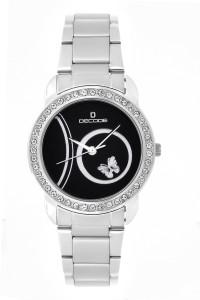 Decode LR-035 Black Ladies Crystal Studded Analog Watch  - For Women
