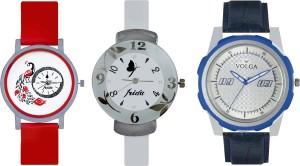 Volga Designer FVOLGA Beautiful New Branded Type Watches Men and Women Combo193 VOLGA Band Analog Watch  - For Couple