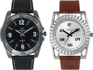 Volga Branded Leather Quality Designer Dial Diwali Special Combo623 Designer Sport Looks WaterProof Mens Watch Analog Watch  - For Men