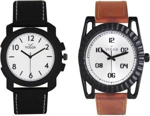 Volga Branded Leather Quality Designer Dial Diwali Special Combo225 Designer Sport Looks WaterProof Mens Watch Analog Watch  - For Men