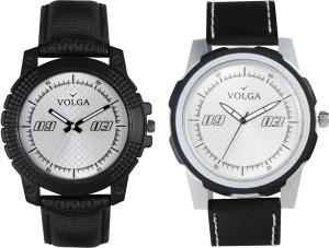 Volga Branded Leather Quality Designer Dial Diwali Special Combo653 Designer Sport Looks WaterProof Mens Watch Analog Watch  - For Men