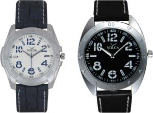 Volga Branded Leather Quality Designer Dial Diwali Special Combo483 Designer Sport Looks WaterProof Mens Watch Analog Watch  - For Men