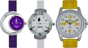 Frida Designer VOLGA Beautiful New Branded Type Watches Men and Women Combo707 VOLGA Band Analog Watch  - For Couple