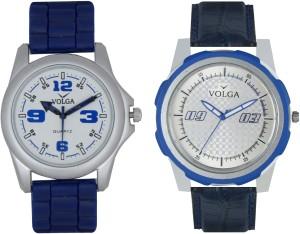 Volga Branded Leather Quality Designer Dial Diwali Special Combo69 Designer Sport Looks WaterProof Mens Watch Analog Watch  - For Men