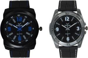 Volga Branded Leather Quality Designer Dial Diwali Special Combo602 Designer Sport Looks WaterProof Mens Watch Analog Watch  - For Men