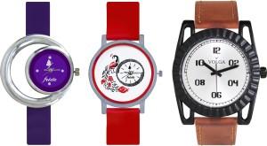 Volga Designer FVOLGA Beautiful New Branded Type Watches Men and Women Combo173 VOLGA Band Analog Watch  - For Couple