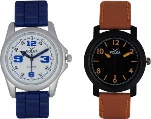 Volga Branded Leather Quality Designer Dial Diwali Special Combo47 Designer Sport Looks WaterProof Mens Watch Analog Watch  - For Men
